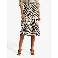 Lauren Ralph Lauren Allyda A-Line Skirt, Brown