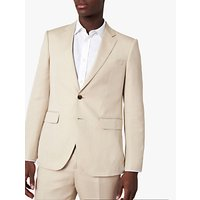 Jaeger Regular Fit Linen and Silk Suit Jacket, Beige