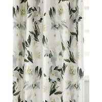 MM Linen Camellia Pair Blackout Lined Eyelet Curtains