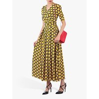 Jolie Moi Sleeved Jersey Maxi Dress, Yellow