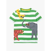Mini Boden Boys Friendly Animal Applique T-Shirt, Green