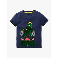 Mini Boden Boys Chameleon Colour Change Sequin T-Shirt, College Navy
