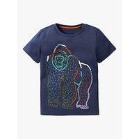 Mini Boden Boys Gorilla T-Shirt, College Navy Gorilla