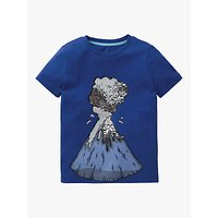 Mini Boden Boys Volcano Colour Change Sequin T-Shirt, Bright Blue