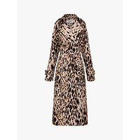 Gerard Darel Animal Trench Coat, Leopard Print