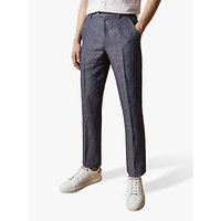 Ted Baker Jeanj Linen Tailored Fit Suit Trousers, Purple