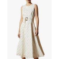 Ted Baker Caryla Spot Belted Dress, Ivory