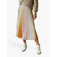 Ted Baker Noviia Ombré Pleated Skirt, Yellow