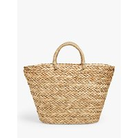 shop for L.K.Bennett Leona Straw Grab Bag, Natural at Shopo