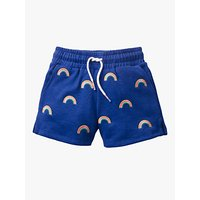 Mini Boden Girls' Rainbow Shorts, Blue