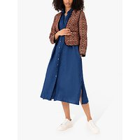 Brora Linen Midi Shirt Dress, Indigo