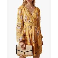 Ted Baker Posyy Floral Print Wrap Dress, Yellow