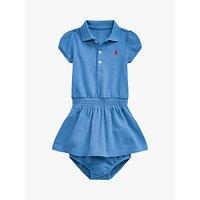 Polo Ralph Lauren Baby Logo Short Sleeve Dress and Knickers Set