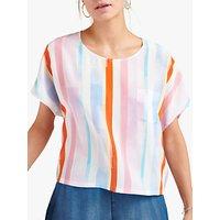NRBY Georgie Silk Stripe Top, Multi Stripe