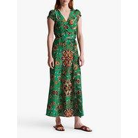 Gerard Darel Sanjay Silk Wrap Dress, Green