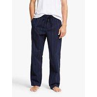 John Lewis & Partners Organic Cotton Multi Stripe Pyjama Trousers, Navy