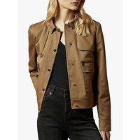 Ted Baker Cabax Cropped Boxy Trench Jacket, Khaki