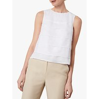 Jaeger Layered Linen Top, White