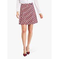 Damsel in a Dress Mindy Chevron Geometric Mini Skirt, Red/Multi