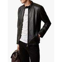 Ted Baker Paypa Leather Jacket, Black