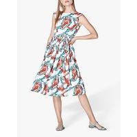 L.K.Bennett Issie Lobster Print Cotton Sun Dress, White