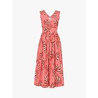 L.K.Bennett Candice Bow Print Sun Dress, Pink