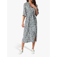 Brora Paisley Linen Midi Dress, Kingfisher