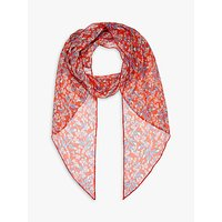 Brora Liberty Silk Floral Scarf, Poppy Floral