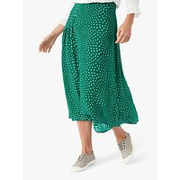 Brora Star Silk Midi Skirt, Emerald