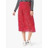 Brora Star Silk Midi Skirt, Poppy