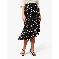 Studio 8 Hailey Spotted Wrap Skirt, Black/White