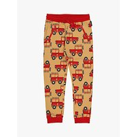 Polarn O. Pyret Childrens GOTS Organic Cotton Sheriff Joggers, Sand