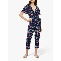 Monsoon Maisy Floral Jumpsuit, Navy