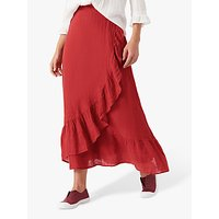Brora Guaz Wrap Maxi Skirt, Burnt Orange