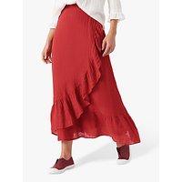 Brora Guaz Wrap Maxi Skirt, Burnt Orange