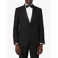 Jaeger Wool Mohair Regular Fit Tuxedo Suit Jacket, Black