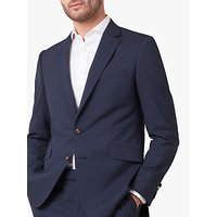 Jaeger Single Breasted Slim Fit Wool Gingham Suit Jacket, Navy