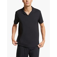 John Lewis and Partners Modal Polo Top, Black