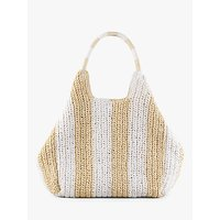 shop for hush Nissi Striped Woven Tote Bag, Natural/White at Shopo