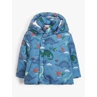John Lewis and Partners Baby Dinosaur Padded Coat, Blue