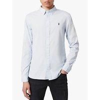 AllSaints Redondo Long Sleeve Shirt, Mist Blue