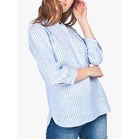 Barbour Dover Stripe Linen Shirt, Blue/White