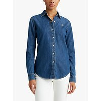 Lauren Ralph Lauren Jamelko Shirt, Bright Medium Wash