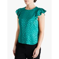 Fenn Wright Manson Petite Jewel Floral Embroidered Top, Green