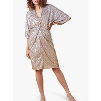 Monsoon Samba Embellished Midi Dress, Gold