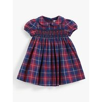 John Lewis and Partners Heirloom Collection Baby Check Smock Dress, Multi