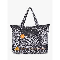 shop for adidas by Stella McCartney Leopard Print Large Tote, Black/White at Shopo