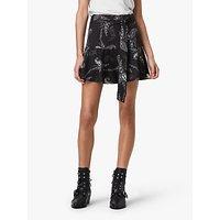 AllSaints Frida Kashmir Mini Skirt, Black