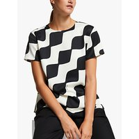 Marella Bolero Geometric Print Top, Black/Multi