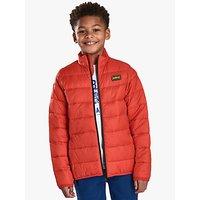 Barbour International Boys Reed Quilted Jacket, Orange